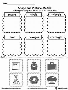 sorting by shape worksheets for kindergarten 7887 14 best images of kindergarten rhyming worksheets and coloring beginning sounds cut and paste