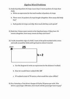 algebra worksheets year 7 tes 8696 algebra word problems teaching resources