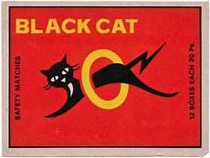 eveready style matchbox art cat logo vintage