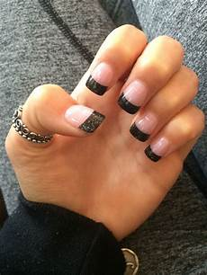 solar black tip nails nail tip designs