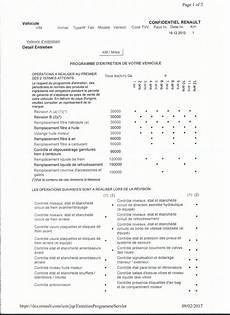 Plan D Entretien Scenic Avec Moteur 1 6 Dci 130cv