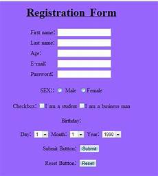 html forms design or building