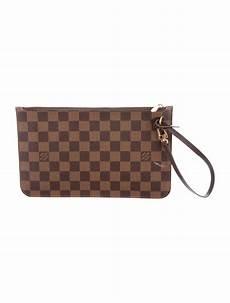 louis vuitton damier ebene neverfull pouch handbags