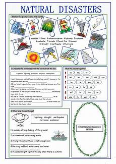 nature worksheets free 15085 disasters vocabulary exercises worksheet free esl printable worksheets made by teachers