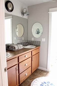 bathroom makeover diy weekend refresh the inspired room
