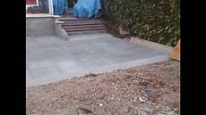 dalle terrasse beton terrasse en dalle b 233 ton sur lit de