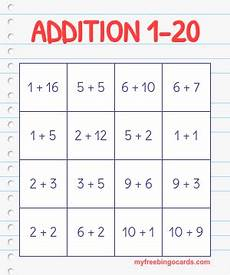 addition bingo worksheets 8794 free printable math bingo cards and math bingo bingo cards math