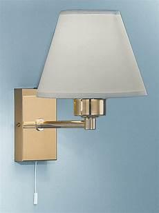 wb126 9002 single wall light bracket polished brass with a shade lighting bug swindon