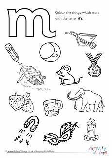 sparklebox letter m worksheets 24318 start with the letter m colouring page