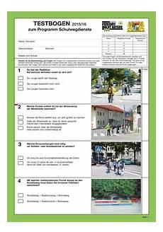 fahrradprüfung 4 klasse fragebogen sicherheit auf dem schulweg einsatzpass bernhard keck