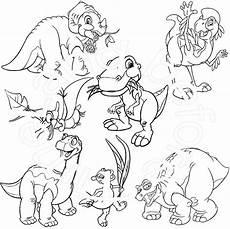 Malvorlagen Dinosaurier Land Vor Unserer Zeit In Einem Land Vor Unserer Zeit 2x 8 A4 Malvorlagen