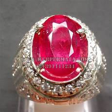 cincin batu merah ruby web batu permata