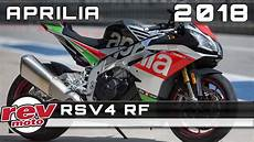 2018 Aprilia Rsv4 Rf Review Rendered Price Release Date