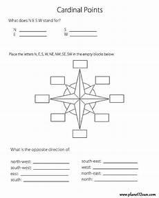 cardinal points 3rd 4th 5th grade planet12sun com printables