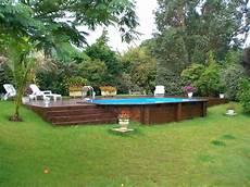piscine hors semi enterree piscine hors sol en bois semi enterr 233 e sur terrain en