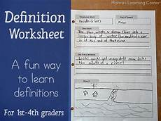 science definition worksheets 12171 a way to write definitions for 1st 4th graders w a free printable mamas learning corner