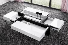 Table Basse Avec Rangement Noir Le Bois Chez Vous