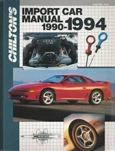 what is the best auto repair manual 1994 dodge viper lane departure warning 1990 1994 chilton s import auto repair manual
