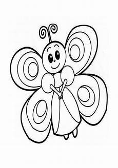 butterfly coloring page preschool and kindergarten
