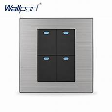 2018 sale 4 2 way wallpad luxury led wall light switch push button switches