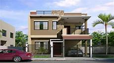 2 storey small house design philippines with floor plan