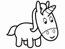 unicorn outline simple coloring pages