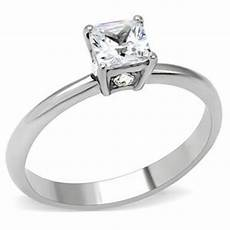 cj157tk wholesale stainless steel square cut cubic zirconia promise ring