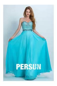 Robe De Bal Longue Bleu Cyan Bustier Coeur Persun Fr