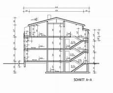 bauplan haus mit bemaßung mehrfamilienhaus mit penthouse 6 we grundriss ansichten