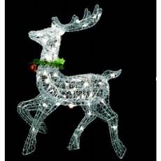 Outdoor Lighted Reindeer Decorations by 25 Quot Lighted Silver Sisal Prancing Reindeer Yard