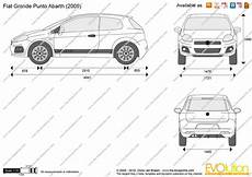 dimension fiat punto the blueprints vector drawing fiat grande punto abarth