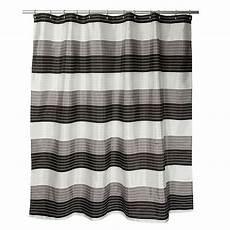 white striped shower curtain ambrosi striped shower curtain in black white bed bath