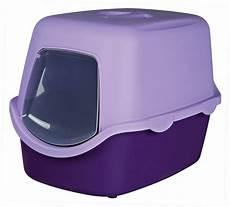 Katzenfressnapf Mit Deckel - trixie katzentoilette vico mit haube purpur