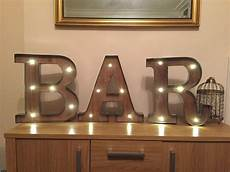 freestanding bar wooden rustic 16 quot led light up letters letter lights numbers marquee letters