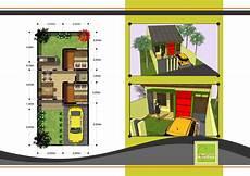 Denah Rumah Sederhana Leter L Desain Rumah Modern