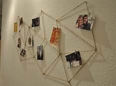 Geometrische Fotowand Aus Kordel Gestalten
