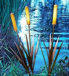 3 solar cattail spike light yard stake water garden pond landscape lighting new home solar