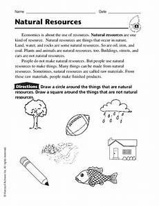 natural resources worksheet for kindergarten 3rd grade lesson planet