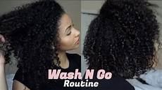 wash n go 3b 3c hair curly hair routine youtube
