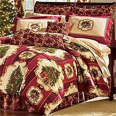 com christmas tree holiday bedding 4pc comforter bed king size home kitchen