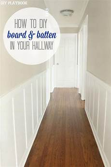 add personality to any plain hallway with board batten
