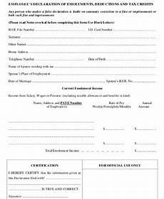 sle employee declaration form 8 exles in word pdf