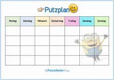 Putzplan Vorlage F 252 R Familie Mit Minions Putzplan