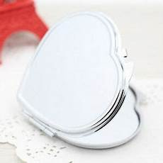 heart shape compact two sided make up mirror cosmetic