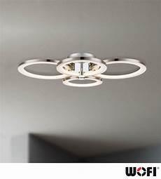 wofi surrey 4 light led flush ceiling light matt nickel
