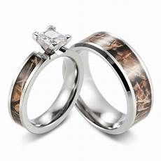 camo engagement wedding ring s cz ring with men s band 2pcs ebay