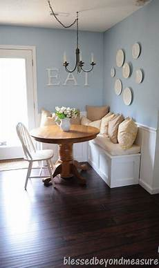 l shaped banquette bench for corner of kitchen paint white and and distress to match shelf