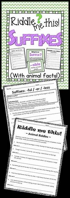 science riddle worksheets 12380 suffixes posters worksheets riddles grades 3 6 4th grade science riddles 5th
