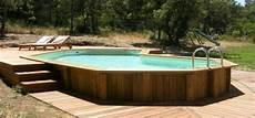 piscine hors semi enterree piscine hors sol en bois les points faibles