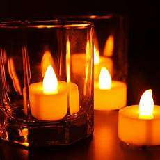 candele led led flameless tealights battery operated flickering tea